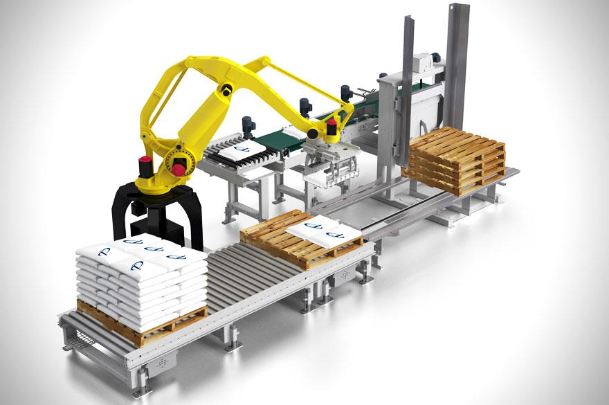 机械臂搬运堆垛系统